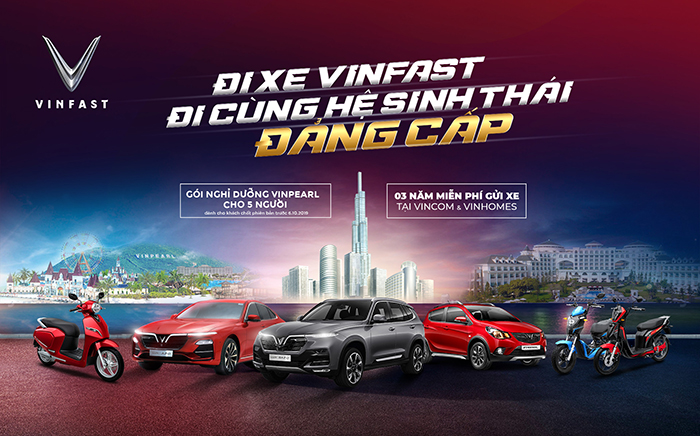 Mua ô tô VinFast Fadil, VinFast Lux A2.0 và VinFast Lux SA2.0 được tặng gói dịch vụ đẳng cấp của Vingroup.