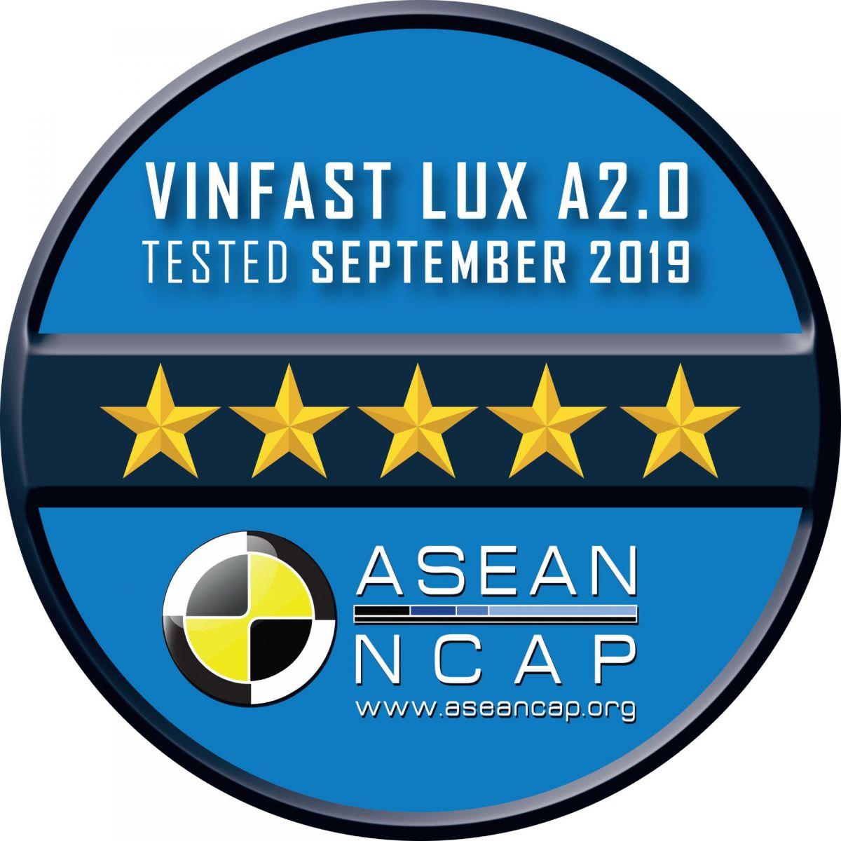 Lux A2.0 đạt tiêu chuẩn an toàn 5 sao của ASEAN NCAP