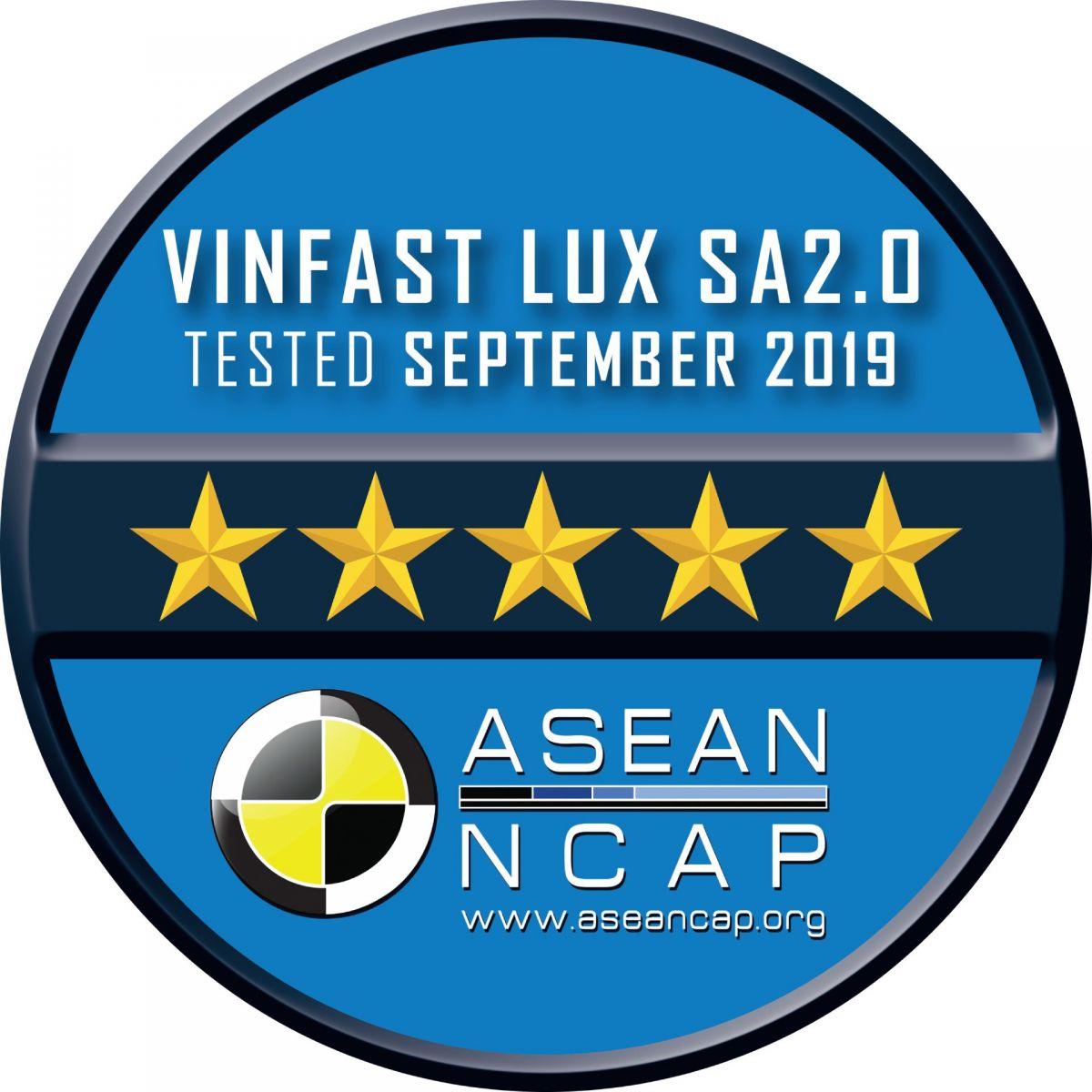 Lux SA2.0 đạt tiêu chuẩn an toàn 5 sao của ASEAN NCAP